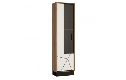 Brolo Tall Glazed Display Cabinet Walnut (LH)