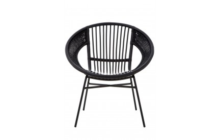 Lagom Black Chair Rattan / Iron