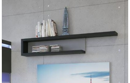 Lyon 140cm Wall Shelf Grey Gloss