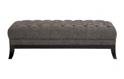 Harrington Footstool Grey Fabric