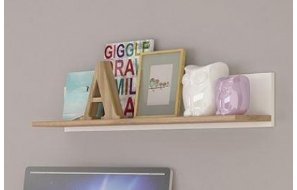 4KIDS 81cm Wall Shelf High Gloss White