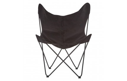 Papillon Butterfly Chair Black Canvas Steel Frame