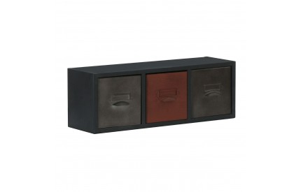 City Loft Cabinet Metal Wall Cabinet 3 Assorted Colour Drawers