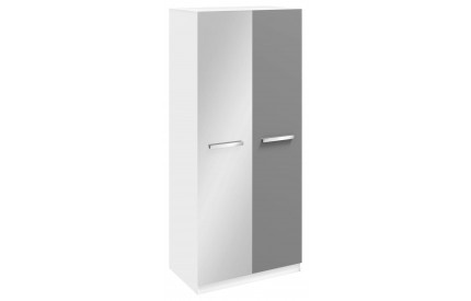 Ritza 2 Door Mirrored Wardrobe Grey