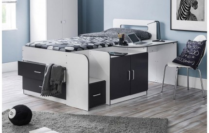 Cookie Cabin Bed Black and White