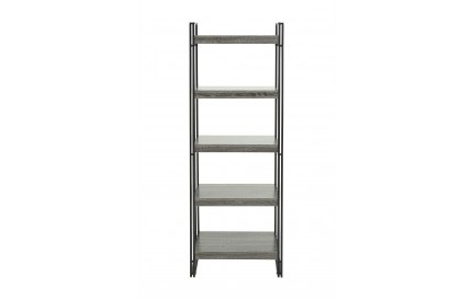 Midtown 5 Tier Shelves Black Metal/MDF