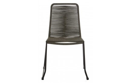 Sisal Chair Steel Frame Grey Rope