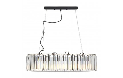 Akiko 4 Bulb Pendant Light Clear Glass Shade