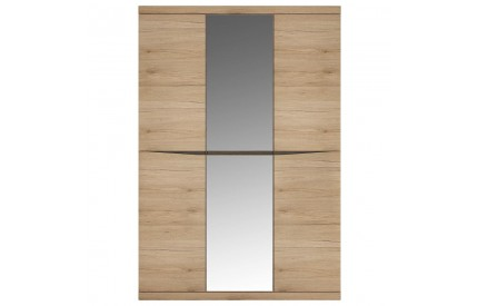 Kensington 3 Door Mirrored Wardrobe Oak