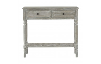 Anchor Console Table 2 Drawers Slate Grey