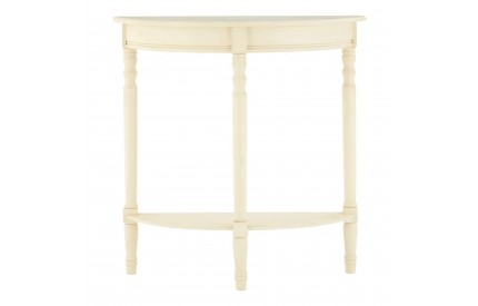 Anchor Console Table Half Moon Antique White