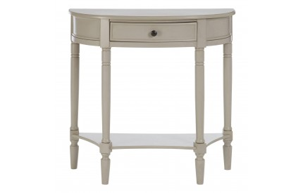 Anchor Console Table Half Moon / Single Drawer Vintage Grey