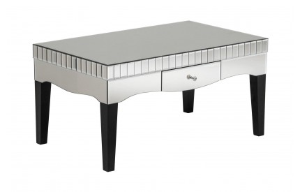 Regan Coffee Table MDF / Mirrored Finish Single Drawer