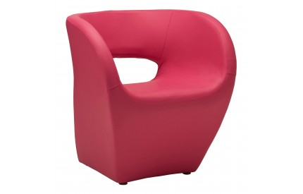 Aldo Chair Hot Pink Leather Effect