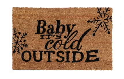 Cold Outside Doormat PVC Backed Coir