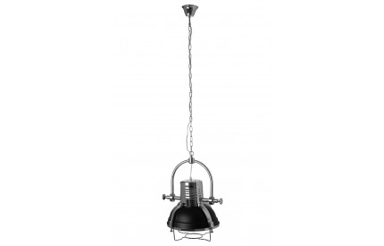 Industrial Revolution Pendant Light Matt Black / Chrome