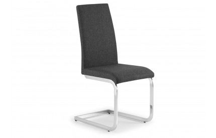 Fabric Dining Chair Slate Grey Chrome