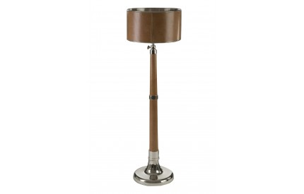 Harold  Floor Lamp Tan / Extendable Genuine Leather / Nickel