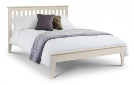 Salerno Shaker Bed Solid Oak Ivory