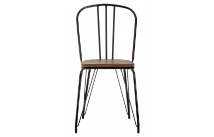 Precinct High Back Chair Elm Wood and Metal