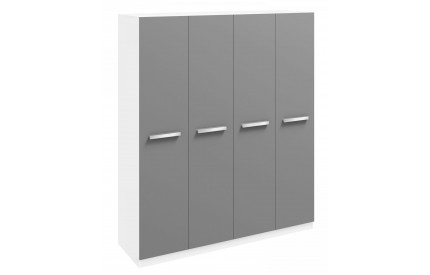 Ritza 4 Door Wardrobe Grey