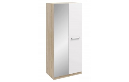 Momo 2 Door Mirrored Wardrobe White