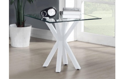 Primary Crossed Base Gloss Lamp Table White
