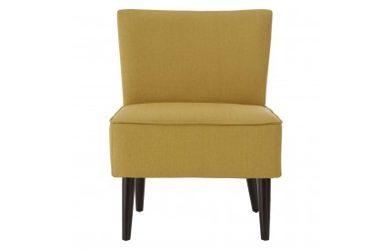 Greece Chair Yellow / Pistachio Fabric Black Finish Rubberwood Legs