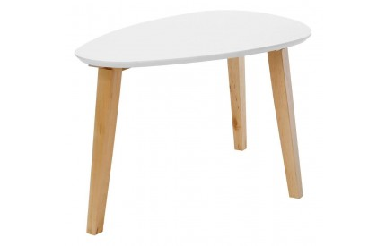 Fiesta Coffee Table White/Birch Frame
