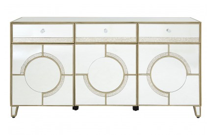 Warwickshire Cabinet 3 Doors / 3 Drawers Mirrored Glass