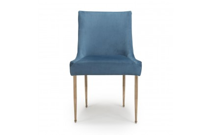 Earl Brushed Velvet Caribbean Blue Dining Chair
