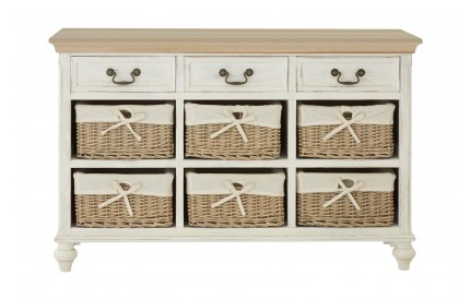 Hendra Cabinet Fir Veneer 6 Willow Baskets
