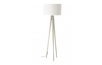 Livia Floor Lamp Metal Tripod Frame White Fabric Shade