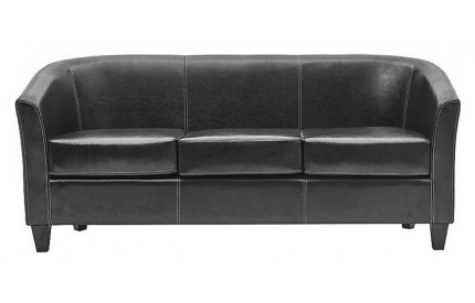 Claridon 3 Seater Sofa PU Black