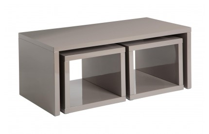 Madrid Coffee Table 2 Under Tables Dark Grey High Gloss Finish