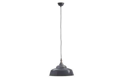 Norway Large Pendant Light Iron / Wood Grey