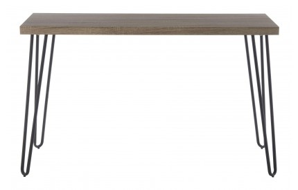 Borough Console Table Faux Wood Veneer Matte Black Legs