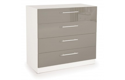 Bailey High Gloss 4 Drawer Chest