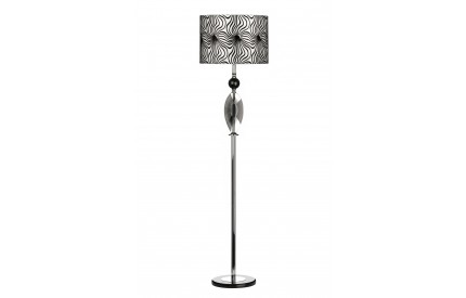 Azura Floor Lamp Crystal/Metal Base Fabric Shade