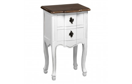 Serena Table Two Drawers MDF/Paulownia Wood/Distressed Finish