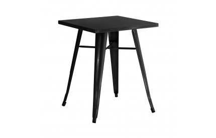 Cuboid Table Metal Black Powder Coated