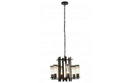 Aspen Pendant Light Iron / Glass Matt Black