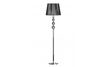 Ileana Floor Lamp Crystal/Metal Base