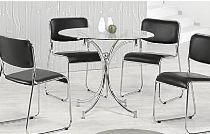 Snorkle Dining Table Chrome