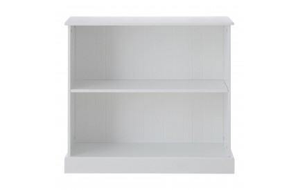 Children's White Bookcase Solid Wood