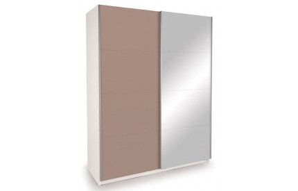 Vermont White Slider 1 Mirror + 1 High Gloss Mocha