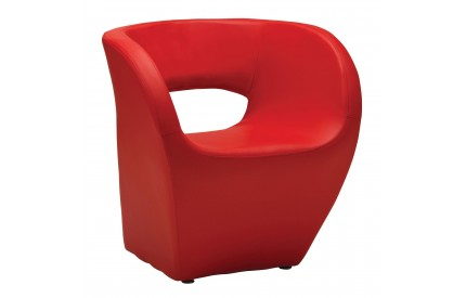 Aldo Chair Red Leather Effect