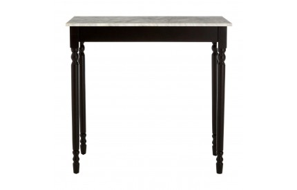 Henley Console Table White Marble Top Black Frame