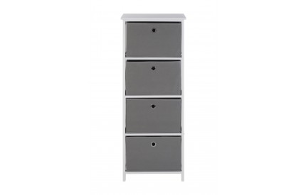 Lindo Cabinet 4 Grey Fabric Chest of Drawers