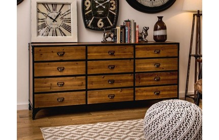 Indigo 12 Drawer Sideboard Chest of Drawers